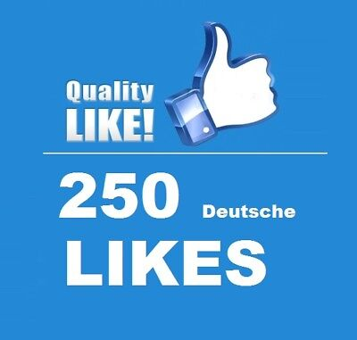 250 Echte ★ Deutsche FacebookLikes ★ High quality Service