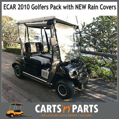 Ecar Golf Cart Buggy 2010 Black 2 seater. 8 INCH CARLISLE Seat Covers brand new