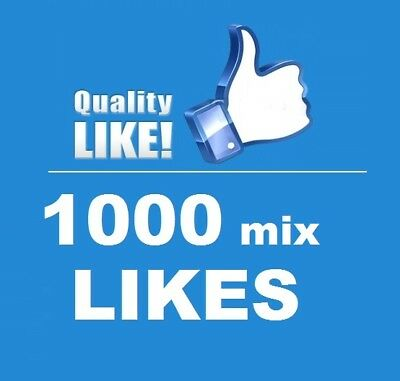 1000 Echte ★ FacebookLikes ★ High quality Service