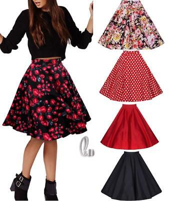 WHOLESALE BULK LOT 10 MIXED COLOUR SIZE Vintage Retro 40s Swing Skirt dr102