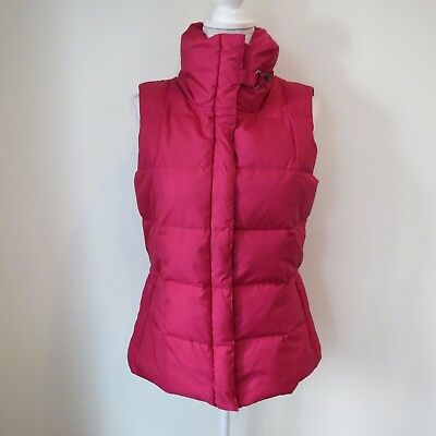 Eddie Bauer Women ULTRA-LIGHT 700FP PREMIUM GOOSE DOWN Vest Red Pink Quilted Top