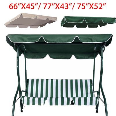 Patio Swing Canopy Replacement Top Cover Porch Outdoor 65x45  77 x43  ...  sc 1 st  PicClick & SWING TOP Cover Canopy Replacement Porch Patio Outdoor 66