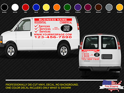 7737310bbba van car vehicle custom vinyl decal lettering stickers business signs 3  decals