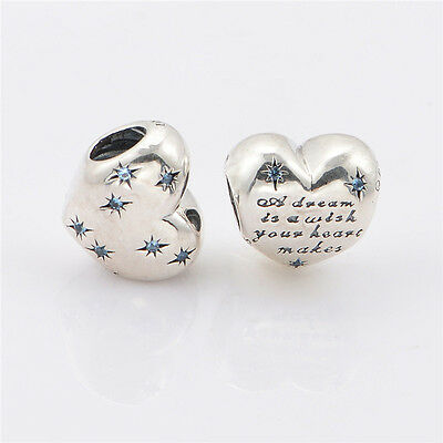 New Genuine Silver Pandora Disney's A Dream is a Wish Charm 791593CFL - RRP $70