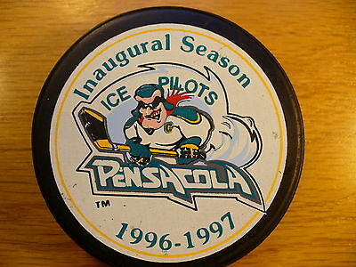 ECHL Pensacola Ice Pilots '96-97 Inaugural Official Hockey Puck Collect Pucks