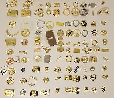 Michael Kors Mk Replacement Parts Lot, Genuine, Latches Zippers Clasps, 100 Qty