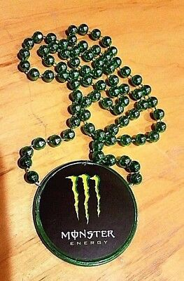 Monster Energy Logo Green Claw Mardi Gras Necklace Rare