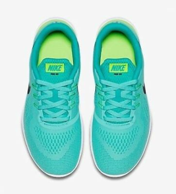 Nike Free RN (GS) Youth Girl's Running Shoes 833993-300 Turquoise Black Jade
