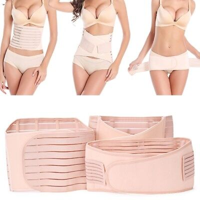 3 in 1 Women Postpartum Support Recovery Waist Belly Pelvis Belts Shapewear Wrap