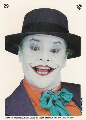 Collector Card; 1989' DC: Batman - The Joker- Sticker Card #29 ...Topps company