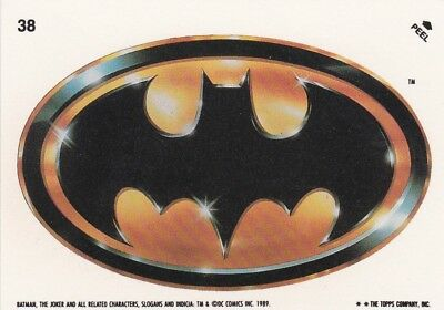 Collector Card; 1989' DC: Batman Sticker Card #38 ...Topps company