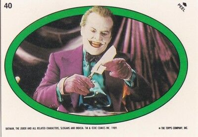 Collector Card; 1989' DC: Batman - The Joker- Sticker Card #40 ...Topps company