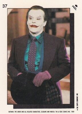 Collector Card; 1989' DC: Batman - The Joker- Sticker Card #37 ...Topps company