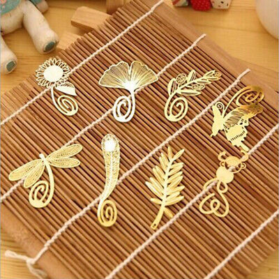 2Pcs Cute Chinese Style Creative Gold Metal Feather Butterfly Dragonfly Bookmark