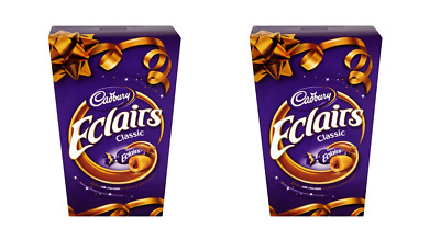 907853 2 x 420g BOXES CADBURY ECLAIRS CLASSIC MILK CHOCOLATE IN CHEWY CARAMELS!
