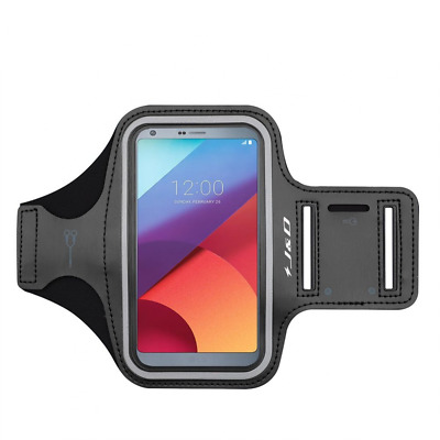 LG G6 Armband, J&D Sports Armband for LG G6, Key holder Slot, Perfect Earphone C