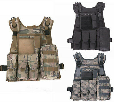 Tactical Airsoft Paintball Combat Military Swat Assault Army Hunting Molle Vest