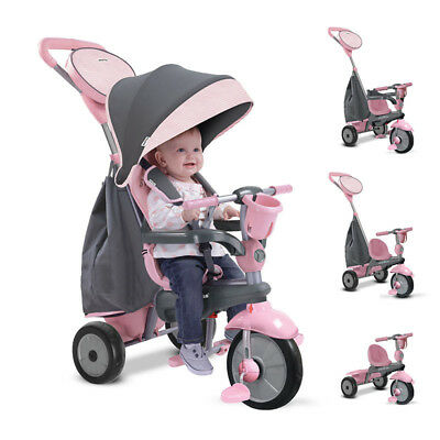 Smart Trike Swing Hooded Baby Trike - Pink