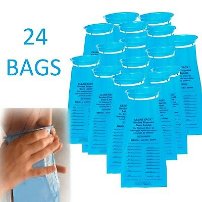 EMESIS BAG Vomit Sickness Aid Clean Up Sack Throw Up Barf Sanitary Urinals 24 ct