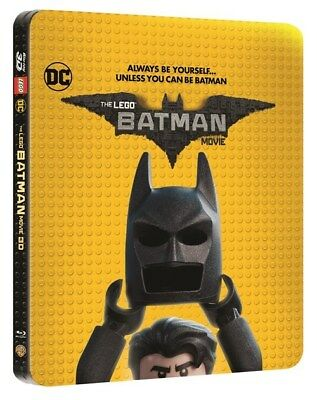 The Lego Batman Movie Limited Edition Steelbook Bluray In 3D & 2D - Fast - Rare