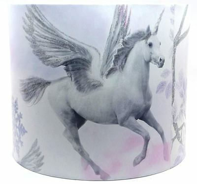 Unicorn Lampshade Ceiling Light Shade Girls Princess Horse Bedroom Nursery Lilac