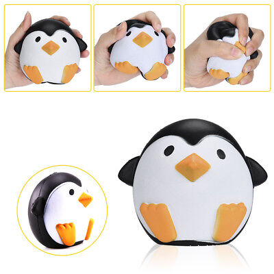 12CM Squishy Cute Penguin Squeeze Stretch Soft Slow Rising Restore Fun Toy Gift