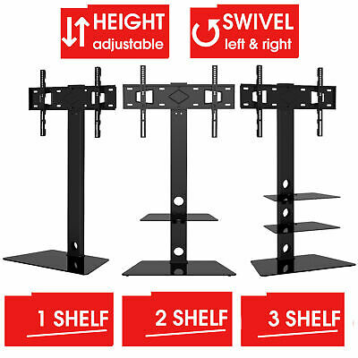 Mountright Cantilever Floor TV Stand With Swivel Bracket For Screens 27 Up To 55