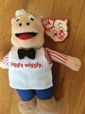 NWT  Vintage Piggly Wiggly  Plush Beanie Pig Toy