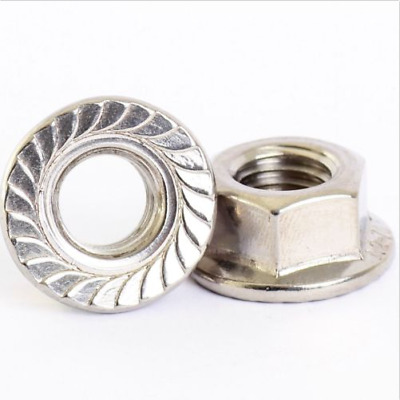 5 PACK M3 M4 M5 M6 M8 M10 M12 Stainless  Serrated  Flange Hex  Nuts