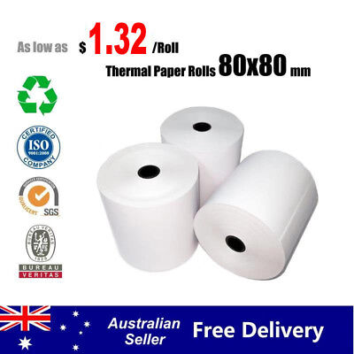 5/50/100 Rolls 80x80mm Thermal Paper Rolls Cash Register Receipt Roll