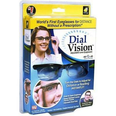 Adjustable Glasses Spectacles Vision For Distance Or Reading As Seen On Tv