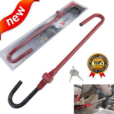 Red Anti Theft Pedal Steering Wheel Lock The Club Universal Car Truck Auto SUV S