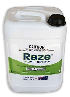 Glyphosate 510 g/L Herbicide Concentrate RAZE 20L Crop Care Weed Kill SIPCAM