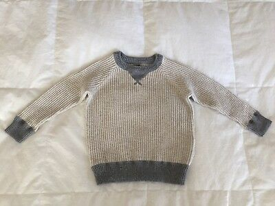 BABY GAP  Boys 2T Thermal Sweater Pullover Oatmeal/gray