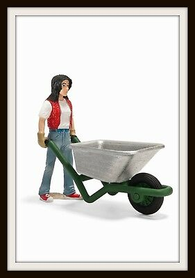 SCHLEICH Stable Girl with Wheelbarrow (Item No. 134539) New with Tag