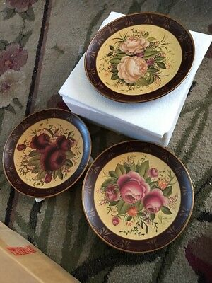 2004 Home Interiors Decorative Plates Set Of 3 Roses