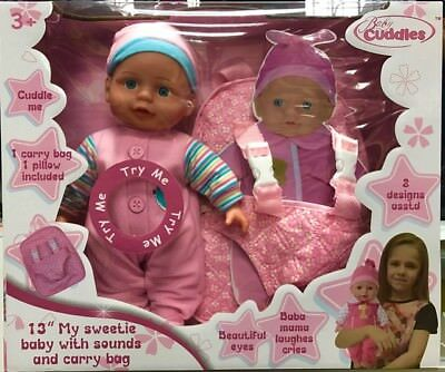 "Baby Doll Play Set With Accessories 10"" Cute Baby Doll With Bottle Gift AP22570"