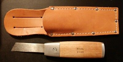 "Hyde 2108 Mill Blade Knife NOS With Blade And Sheath 7"" Total Length"
