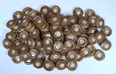 Superbe lot 100 boutons en galalithe sculptés 1960 made in France