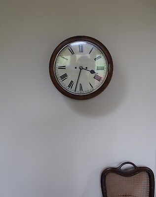Antique Double Fusee Wall Clock - good working condition -12 inch - lovely Bong!