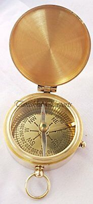 NEW Nautical Brass Pocket Compass 2 Marine Nautical Flap Compass FREE SHIPPING