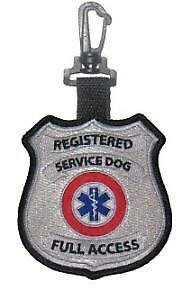 NEW 2 Sided  Registered Service Dog  Full Access Patch Tag FREE SHIPPING