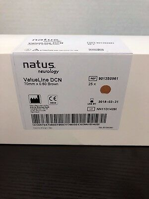 Natus Neurology 70mm Brown Disposable Concentric EMG Needle Electrode 25 per Box