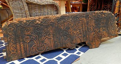 Unique Early Antique European Carved Wood Decorative Architectural Italian Panel