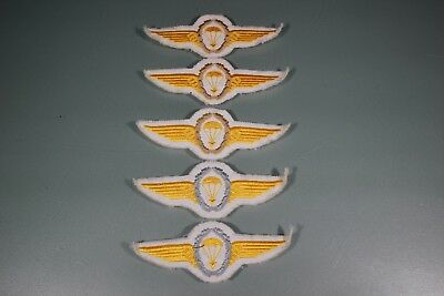 Post WW2 German FJ Fallschirmjager Kriegsmarine Lot of 5 Jump Wings Patch F49