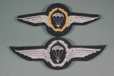 Post WW2 German FJ Fallschirmjager Army Heer Lot of 2 Jump Wings Patch F50