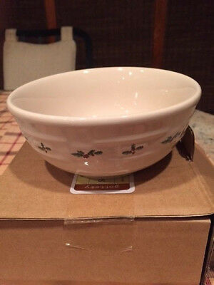 Longaberger Traditional Holly Soup and Salad Bowl - Christmas Dinnerware