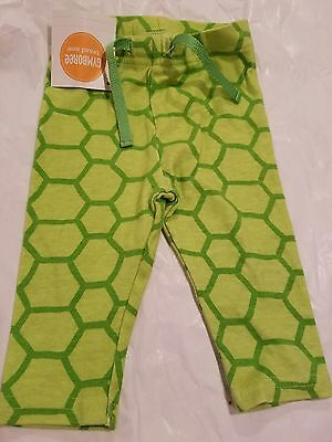Gymboree TURTLEY CUTE Green Turtle Shell pull-on Pants sz 3-6 mos NWT UNISEX