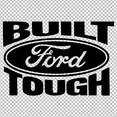 BUILT FORD TOUGH N187 FORD WINDSHIELD DECAL