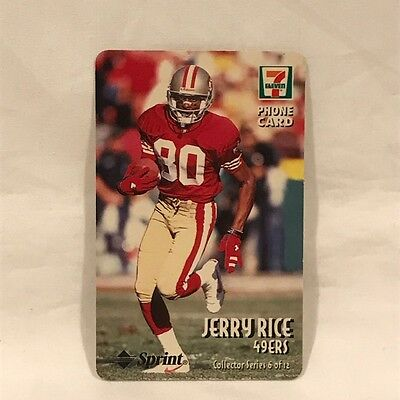 7-Eleven NFL Phone Card - Jerry Rice - SAN FRANCISCO 49ers - Expired 1998